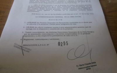 A.P.O.S. puso en vigencia el nuevo protocolo de derivaciones (archivo adjunto)